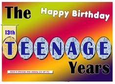 This is another series of cards celebrating the teen years.  You can find more of my cards - plus many more by other talented artists on this site