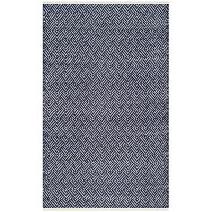 Found it at Joss & Main - Kendra Navy Geometric Hand-Tufted Area Rug