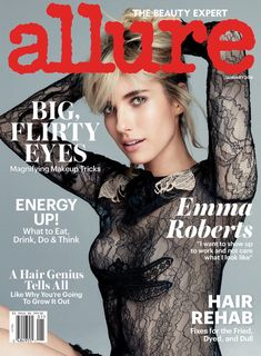 Emma Roberts on Allure Magazine January 2016 cover