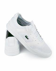 53e4f741e Lacoste Para Hombres, Zapatillas Lacoste, Hombre Blanco, Moda Casual Hombre,  Tenis De