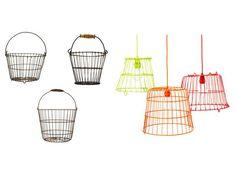 Neon Egg-Basket Lights - Flea Market Flips on HGTV