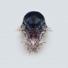 Neri Oxman is contributing a series of intricate 3D-printed death masks called Vespers to the Fear and Love exhibition.