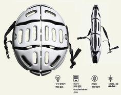 접이식 자전거 헬멧