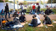 Hungerstreik: Flüchtlinge wollen nicht in Baumarkt ziehen