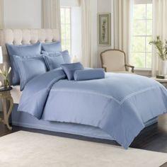 Wamsutta® Baratta Stitch Comforter Set in Periwinkle - BedBathandBeyond.com