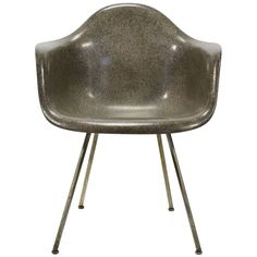 Eames Zenith Elephant Hide Gray Sax Easy Chair by Herman Miller - late Charcoal Gray, Grey, Charles & Ray Eames, Eames Chairs, Herman Miller, Elephant, College, Interiors, Interior Design
