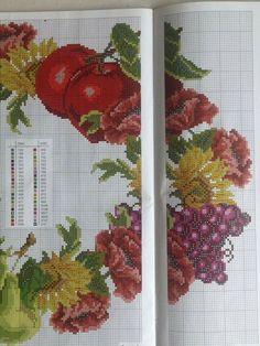 Cross Stitch Fruit, Cross Stitch Patterns, Diy And Crafts, Embroidery, Easter, Cross Stitch Kitchen, Tablecloths, Cross Stitch Embroidery, Table Toppers