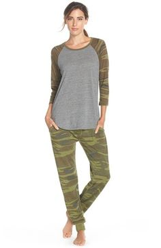 Free shipping and returns on Alternative Camo Print Baseball Tee at Nordstrom.com. This slouchy tee is a comfy trifecta of athletic raglan sleeves, casual heathering and a camo pattern.