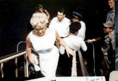 Marilyn in Bement, Illinois, for the Bement Centennial, August 1955.