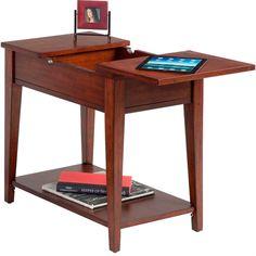 Birch Veneer Chairside Accent Table