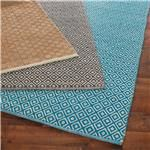 soft cotton diamond flat weave rug in navy, brown, gray or turquoise!