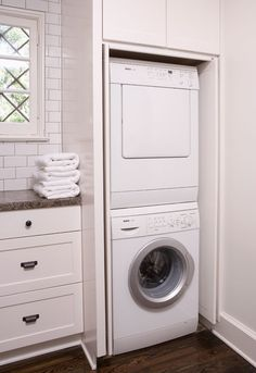 Simple, smart laundry closet.