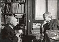 Conductor Leopold Stokowski and Hungarian composer Zoltán Kodály.