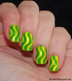 neon by Yasinisi from Nail Art Gallery