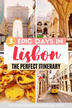 The Perfect 3 Days in Lisbon Itinerary | The Ultimate Lisbon Travel Guide | Amazing Things to Do in Lisbon | Lisbon Tips | Portugal Travel | Where to Eat in Lisbon | Where to Stay in Lisbon | Lisbon Aesthetic | Lisbon Activities | Lisbon Things to Do | Lisbon Portugal Travel Guide | Portugal Travel Tips | Lisbon Must Dos | Portugal Itinerary Inspiration | Europe Travel | Lisbon Portugal Aesthetic | Lisbon Guide | Best Lisbon food Travel Guides, Travel Tips, Lisbon Guide, Lisbon Food, Stuff To Do, Things To Do, Portugal Travel Guide, Top Destinations, Lisbon Portugal