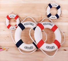 Navy Style Cloth Life Ring Buoy Room Decor Nautical Welcome Aboard Decorative | Home & Garden, Home Décor, Other Home Décor | eBay!