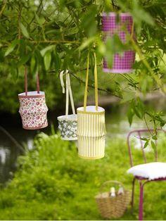 Lampions sind eine zusätzliche schöne Gartenbeleuchtung - und sie sind ganz leicht selbst gemacht.
