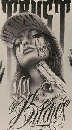 Chicano Drawings, Badass Drawings, Dark Art Drawings, Gangster Drawings, Tattoo Chicano Style, Chicano Tattoos, Arte Cholo, Cholo Art, Graffiti Drawing