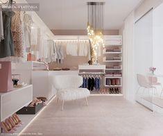 Cute Bedroom Decor, Room Ideas Bedroom, Home Room Design, Home Interior Design, Pink Home Offices, Beauty Room Decor, Wardrobe Room, Master Bedroom Interior, Dressing Room Design