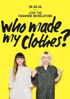 Will you be joining us this year for Fashion Revolution Day where we demand transparency in the fashion industry and make companies accountable? Fair Trade Clothing, Fair Trade Jewelry, Fair Trade Fashion, Fast Fashion, Slow Fashion, Ethical Clothing, Ethical Fashion, Ethical Shopping, Eco Friendly Fashion