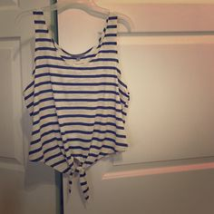Tank top Blue and white striped summer tank Tops Tank Tops