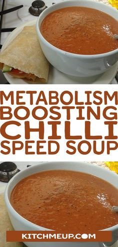 Syn Free Metabolism Boosting Chilli Speed Soup - Slimming world soup recipes - . - Syn Free Metabolism Boosting Chilli Speed Soup – Slimming world soup recipes – - Slimming World Soup Speed, Slimming World Soup Recipes, Slimming World Breakfast, Healthy Soup Recipes, Cooking Recipes, Healthy Cooking, Slimming World Chilli, Slimming Workd, Slimming World Dinners