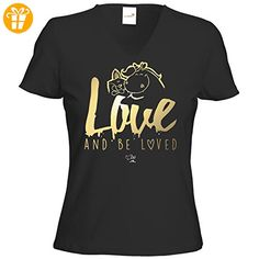 getshirts - Pummeleinhorn - T-Shirt Damen V-Neck - love and beloved -