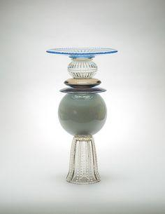 Glass vessel design by Studio Kalff  Milano Italy SALONE DI MOBILE 2016 -
