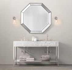 Hardware Restoration Hardware And Contemporary Vanity On