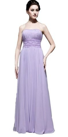Sequin Lilac Strapless Long Prom Dress with Lace Waist (US 20)