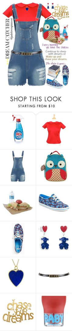 """Chase Your Dreams!🌟"" by jadelovespintrest ❤ liked on Polyvore featuring Moschino, Skip Hop, Kate Spade, TOUS, Jennifer Meyer Jewelry, PBteen, Maybelline and jumpsuits"