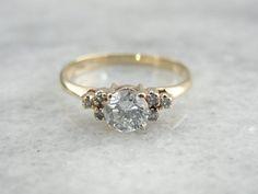 Studio Petite French Pavé Crown Diamond Engagement Ring in Platinum (1/3 ct…