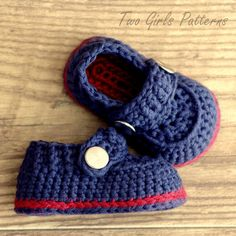 Crochet Pattern Baby Boy stivaletti il di TwoGirlsPatterns