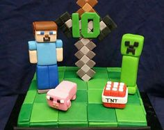 Check out our minecraft cake topper selection for the very best in unique or custom, handmade pieces from our shops. Minecraft Cake Designs, Minecraft Cake Toppers, 10th Birthday, Usb Flash Drive, Shops, Cakes, Unique, Check, Handmade