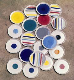 Gio Ponti, table ware, ceramics for Franco Pozzi, 1967. © Gio Ponti Archives, Milano