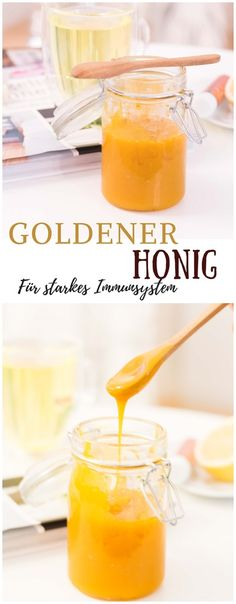 Rezept: goldener Honig für starkes Immunsystem #immunsystem #tipps #goldenerhonig #honig #hausmittel