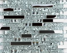 Crystal glass and metal backsplash tiles for kitchen and bathroom silver stainless steel tile bath mosaic glass diamond patterns for showers Metal Tile Backsplash, Glass Mosaic Tiles, Kitchen Backsplash, Backsplash Ideas, Backsplash Arabesque, Hexagon Backsplash, Granite Backsplash, Beadboard Backsplash, Herringbone Backsplash