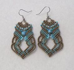 67352f6e1 Holiday Party Macrame Earrings   Featherlight Macrame Earrings ...