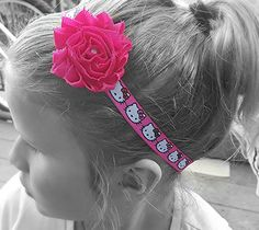 Hello Kitty headband pink headband infant headband by KayLeeBands