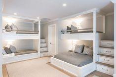 Bunk Bed Rooms, Bunk Beds Built In, Bunk Beds With Stairs, Kids Bunk Beds, Kid Rooms, Build In Bunk Beds, Queen Bunk Beds, Living Rooms, Adult Bunk Beds