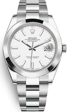 Rolex Watches New Collection : Rolex Datejust 36 in Oystersteel with a domed bezel, white dial and Oyster bracelet. - Watches Topia - Watches: Best Lists, Trends & the Latest Styles Rolex Watches For Men, Luxury Watches, Cool Watches, Men's Watches, Wrist Watches, Casual Watches, Jewelry Watches, Latest Watches, Stylish Watches
