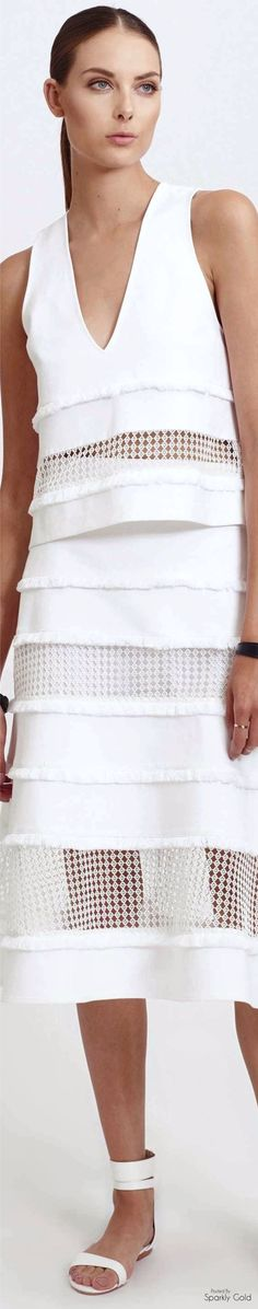 WHITE • HAUTE • CHIC • ❤️ Curated by Babz™✿ιиѕριяαтισи❀ #abbigliamento