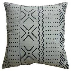 "Patterned Throw Pillow (18""x18"") - White/Black - Threshold™ : Target"