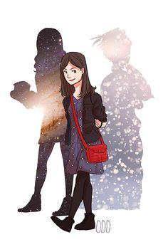 """""""Impossible Clara"""", by Odd. """"Doctor Who"""" fan art."""