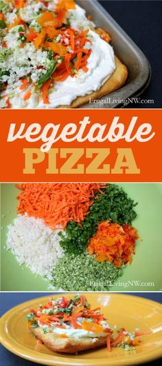 Easy Vegetable Pizza using refrigerated crescent rolls