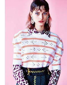 geek off: sibui nazarenko by michael sanders for uk marie claire october 2015 | visual optimism; fashion editorials, shows, campaigns & more! #miumiueditorial #miumiucampaign