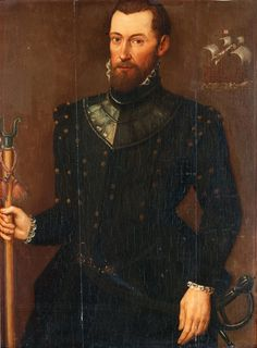 English School ca. 1560, Portrait of a Musketeer. Bukowskis.