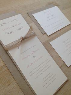 Vintage Twine Wedding Invitation by AMGDesignCo on Etsy