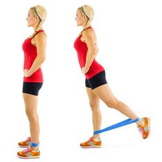 resistance band kickback pulse plus 8 more to shed the saddle off your legs