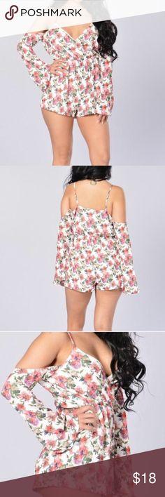 I just added this listing on Poshmark: Fashion Nova Tropical Floral Cold Shoulder Romper!. #shopmycloset #poshmark #fashion #shopping #style #forsale #Fashion Nova #Dresses & Skirts